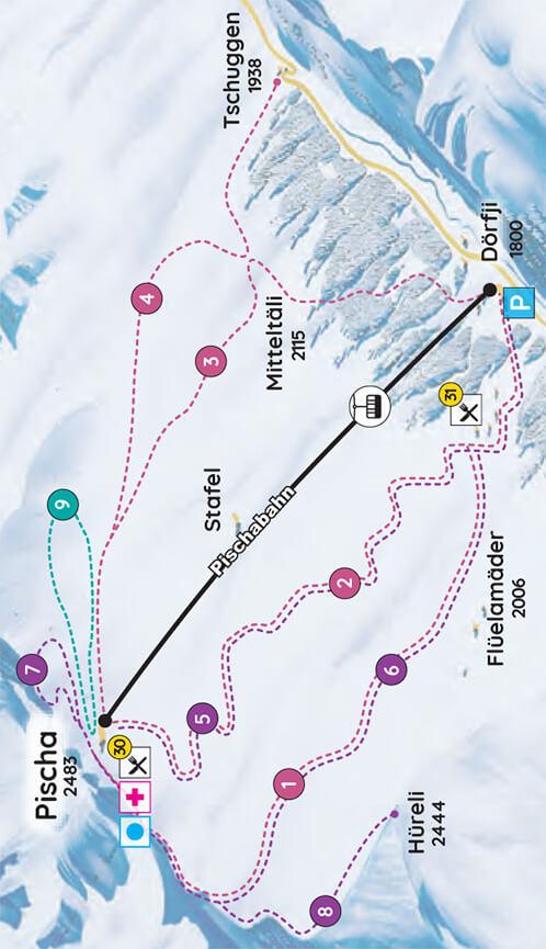 Pischa Snowboarding Map
