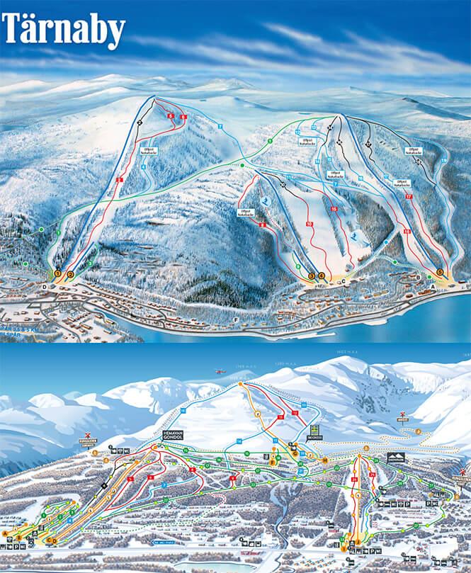 Hemavan Tarnaby Snowboarding Map
