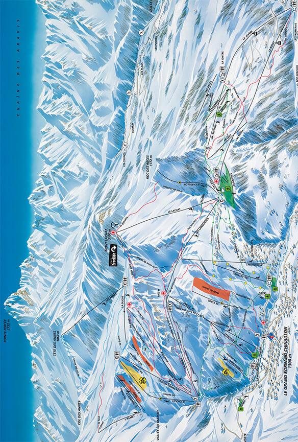 Le Grand Bornand Snowboarding Map