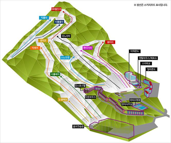 Bears Town Ski Resort Snowboarding Map