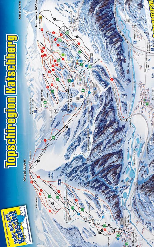 Katschberg Snowboarding Map