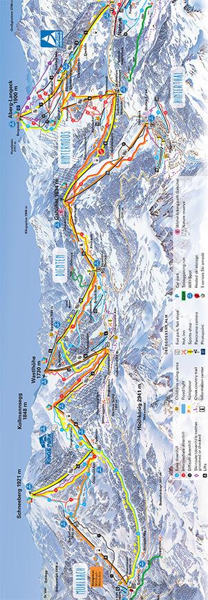 Hochkonig Snowboarding Map