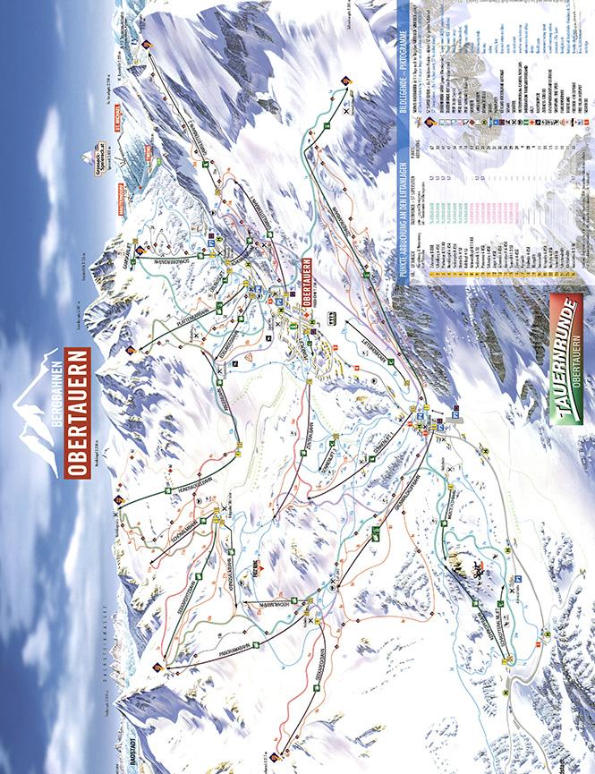 Obertauren Snowboarding Map