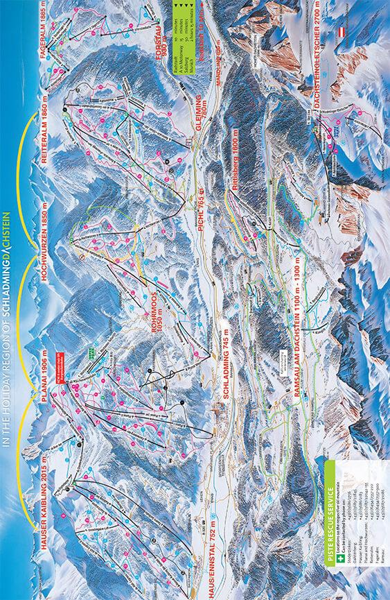 Schladming-Dachstein Snowboarding Map