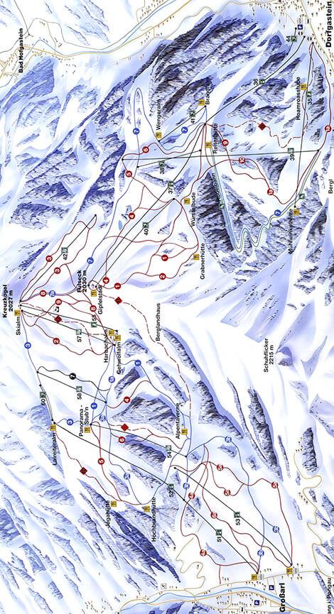 Grossarl Dorfgastein Snowboarding Map