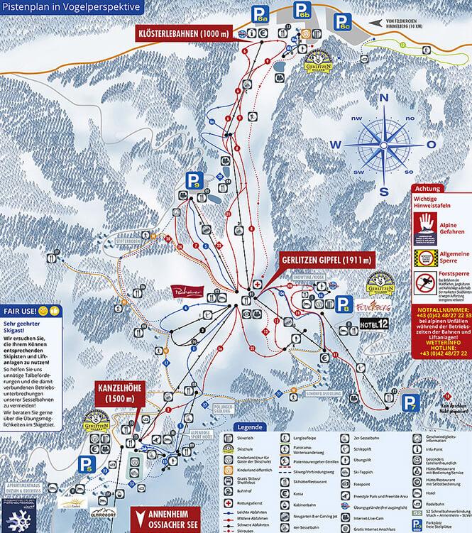 Gerlitzen Snowboarding Map