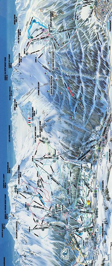 Val Cenis Vanoise Snowboarding Map