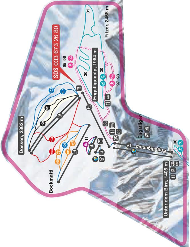 Engstligenalp Snowboarding Map