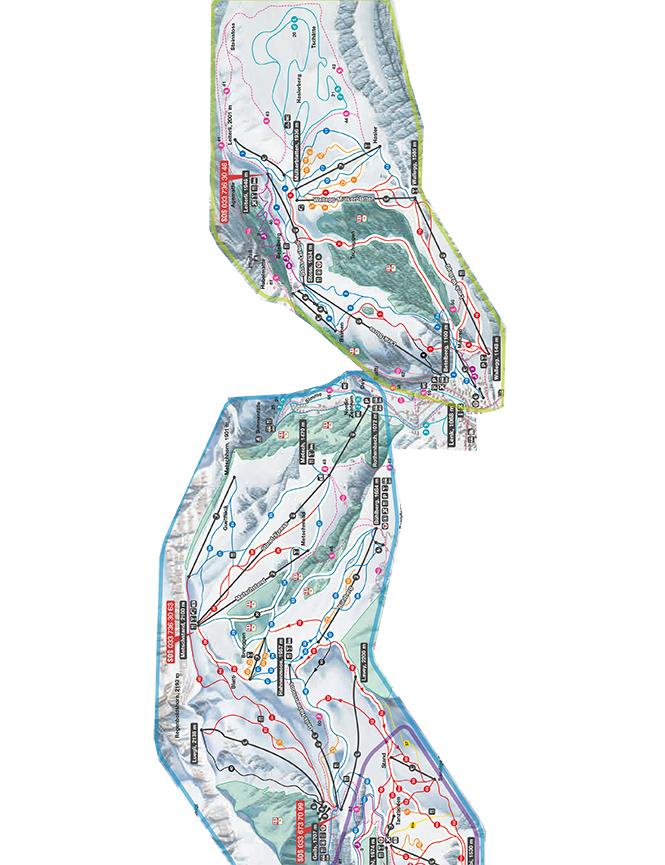 Lenk Snowboarding Map
