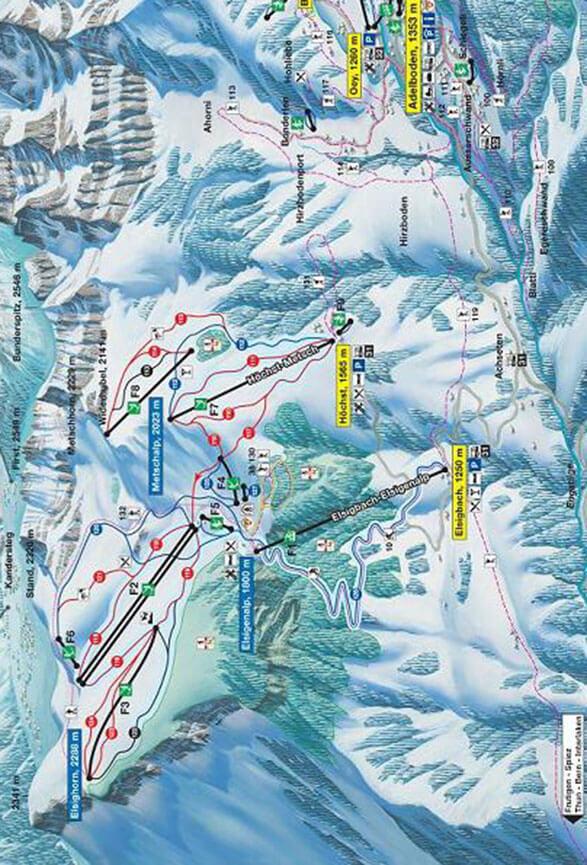 Elsigen-Metsch Snowboarding Map