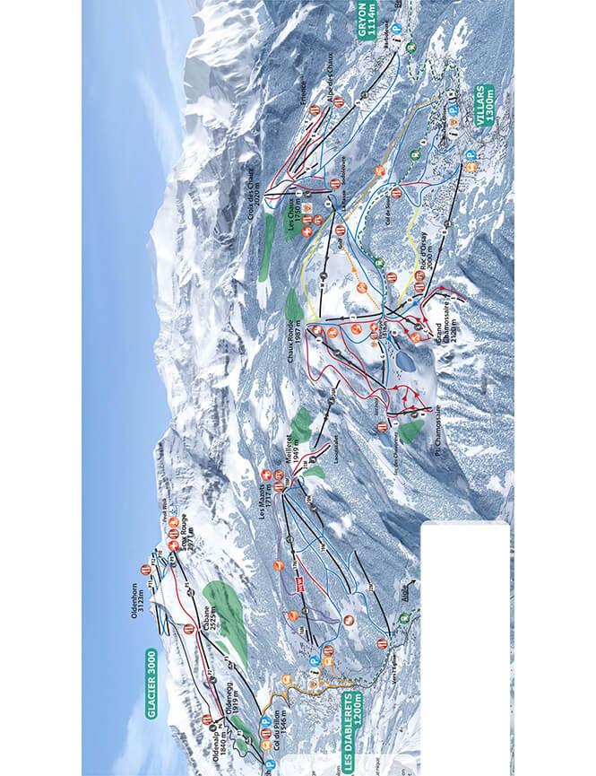 Les Diablerets Snowboarding Map