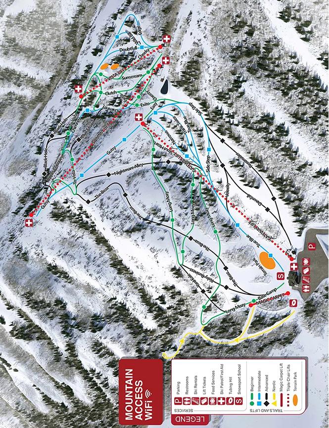 Cherry Peak Resort Snowboarding Map