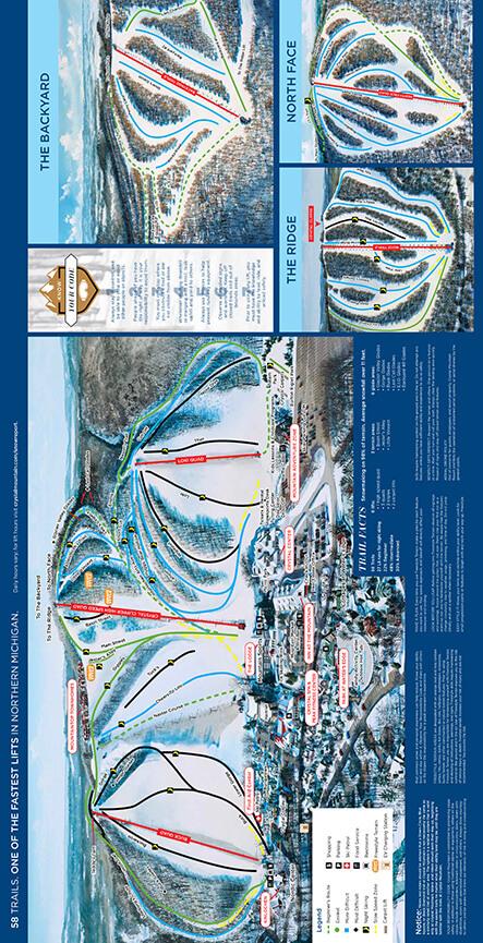 Crystal Mountain Snowboarding Map