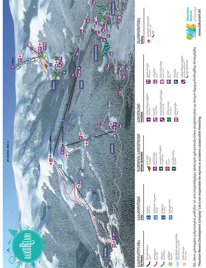 Bakuriani Snowboarding Map