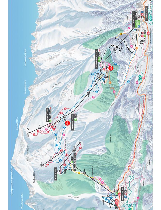 Disentis Snowboarding Map