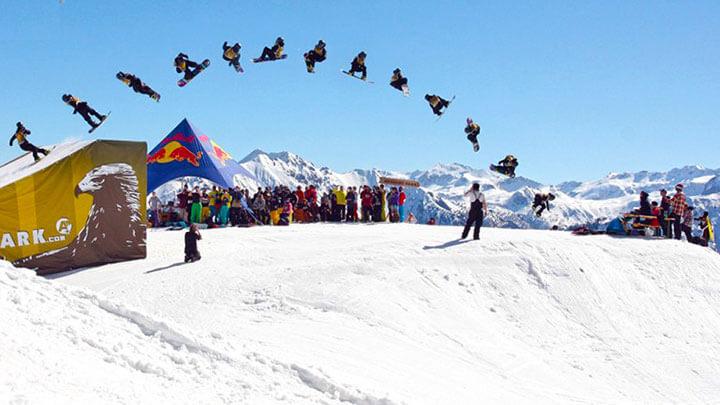 Snowboarding Flachau, Austria
