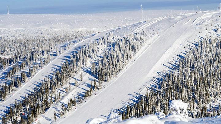 Snowboading Salen Ski Resort, Sweden