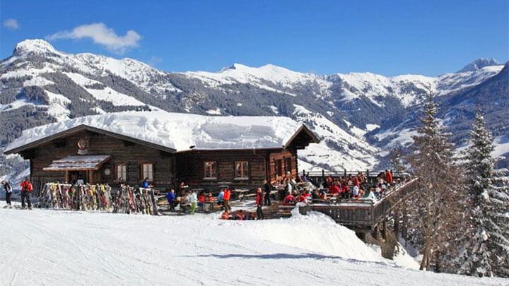 Snowboading In Grossarltal, Austria