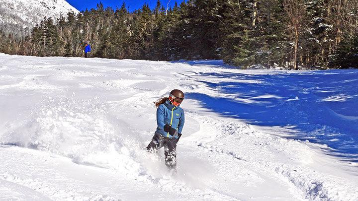Snowboarding At Stowe Mountain Resort, Vermont