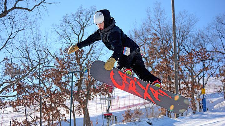 Snowboarding At Buck Hill Ski Area