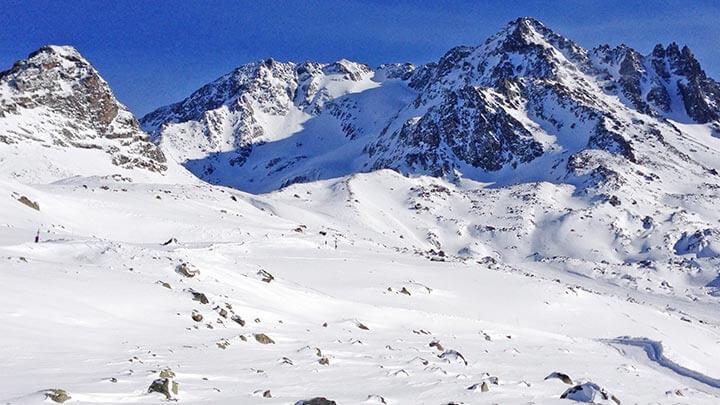 Snowboarding Meribel in Trois Vallees