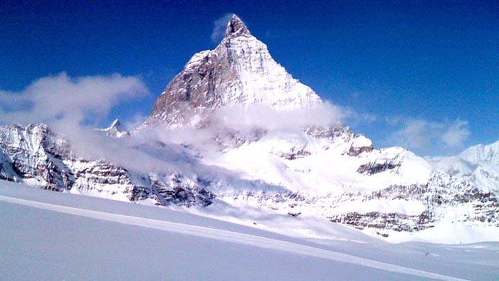 Matterhorn Snowboarding Above Zermatt