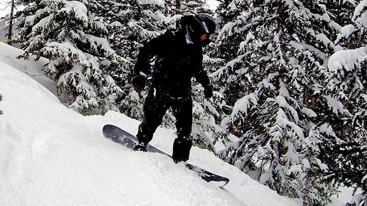 Snowboarding In Silverton, Colorado