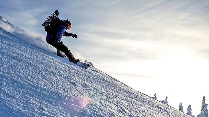 Snowboarding Schilthorn Ski Area, Switzerland