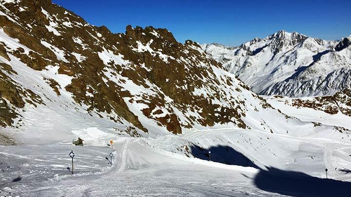 Snowboading Kaunertal Gletscher