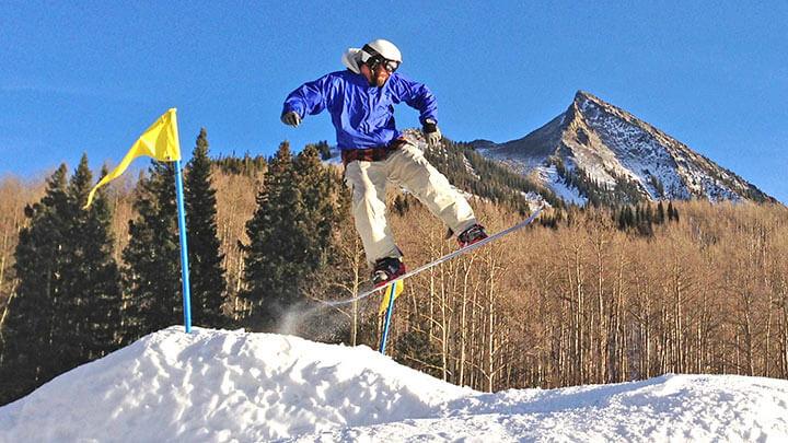 Snowboarding Crested Butte, Colorado
