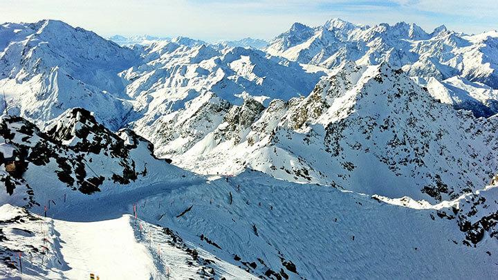 Snowboarding Verbier Ski Area in Les 4 Vallees