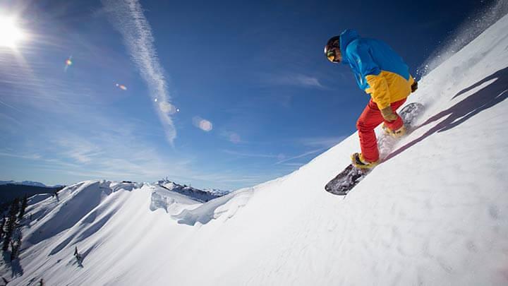 Snowboarding at Alpine Meadows