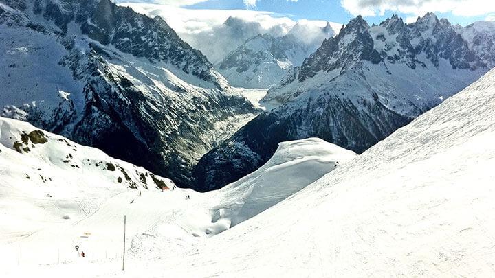 Chamonix Mt Blanc Snowboarding