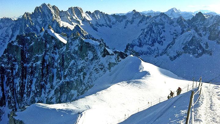 Snowboarding Vallee Blanche, Chamonix